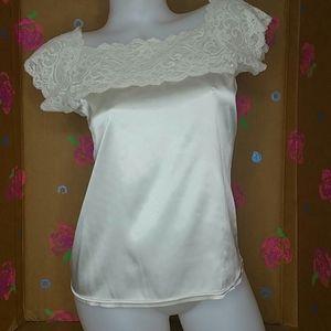 Cacique Ivory Lace Camisole Size Medium